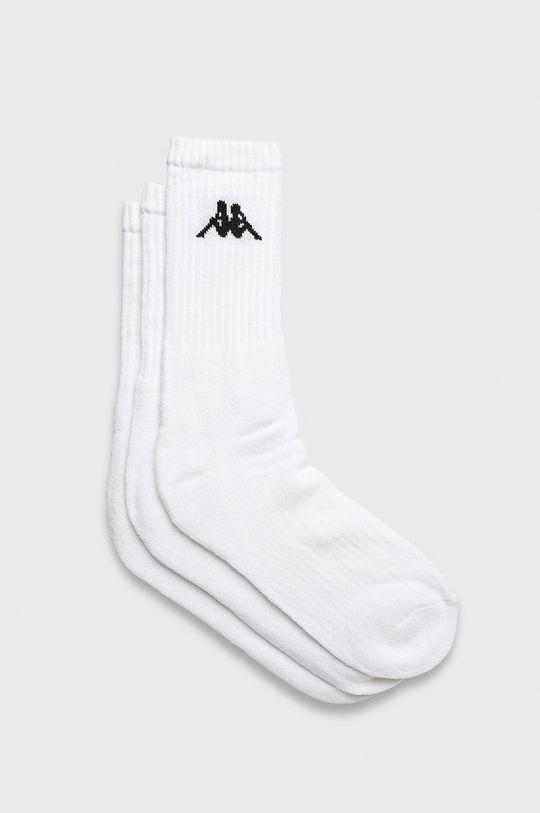 biela Kappa - Ponožky (3-pak) Pánsky