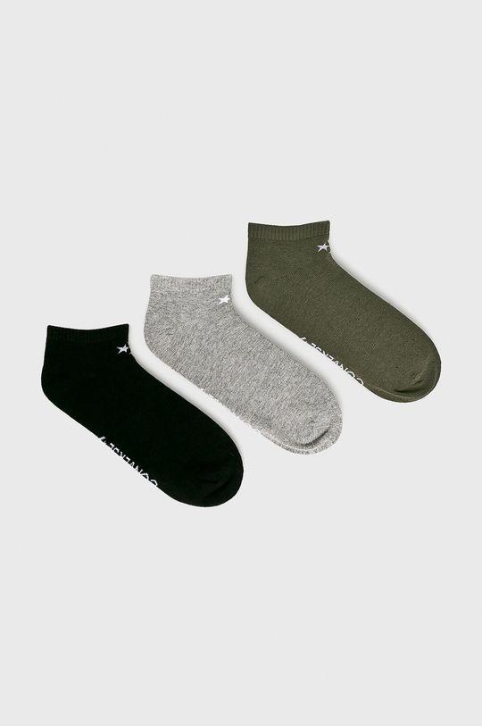 tlumená zelená Converse - Ponožky (2-pack) Pánský