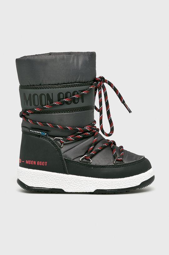 čierna Moon Boot - Zimné topánky Chlapčenský