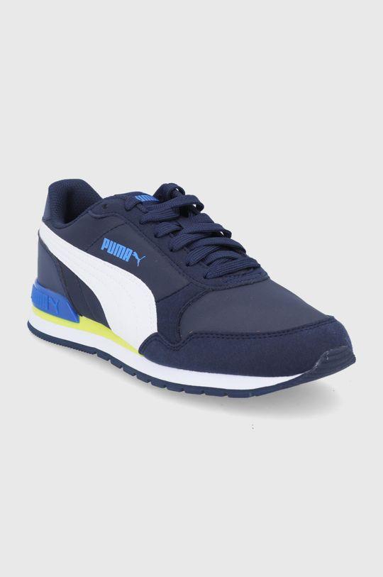 Puma - Pantofi copii Runner V2 bleumarin