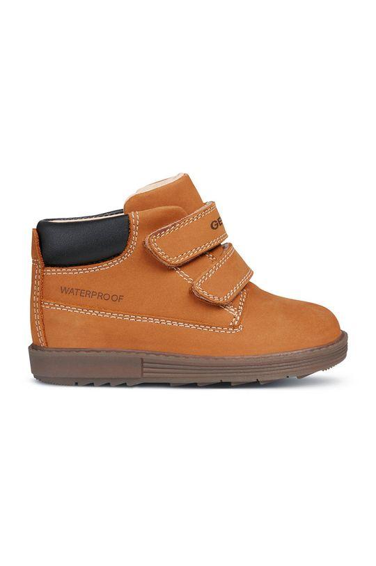 zlatohnedá Geox - Detské topánky Chlapčenský