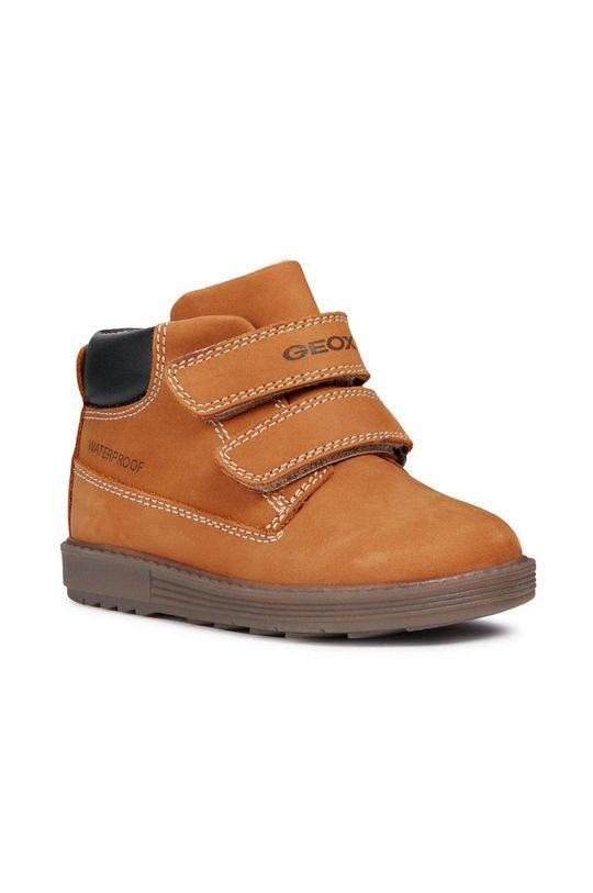 Geox - Detské topánky zlatohnedá