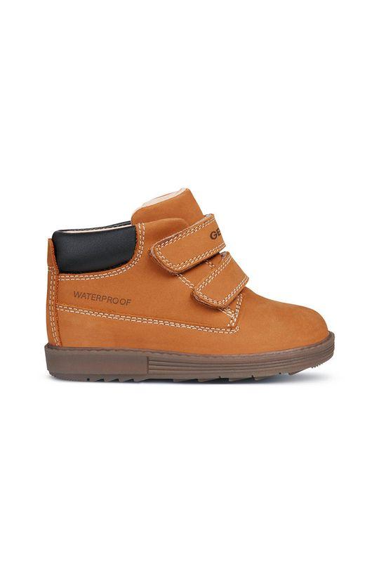 zlatohnědá Geox - Dětské boty Chlapecký