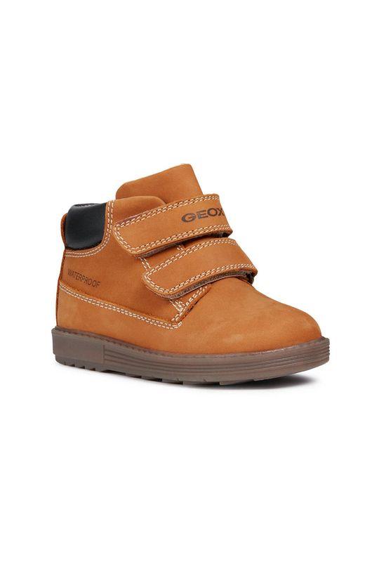 Geox - Dětské boty zlatohnědá