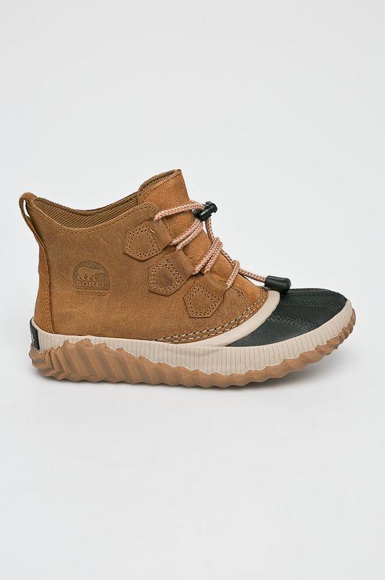 zlatohnědá Sorel - Dětské boty Chlapecký