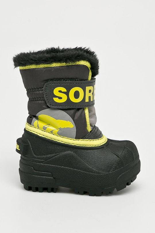 čierna Sorel - Detské topánky Toddler Snow Commander Chlapčenský