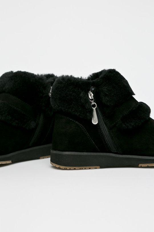Emu Australia - Botki Oxley Fur Cuff czarny