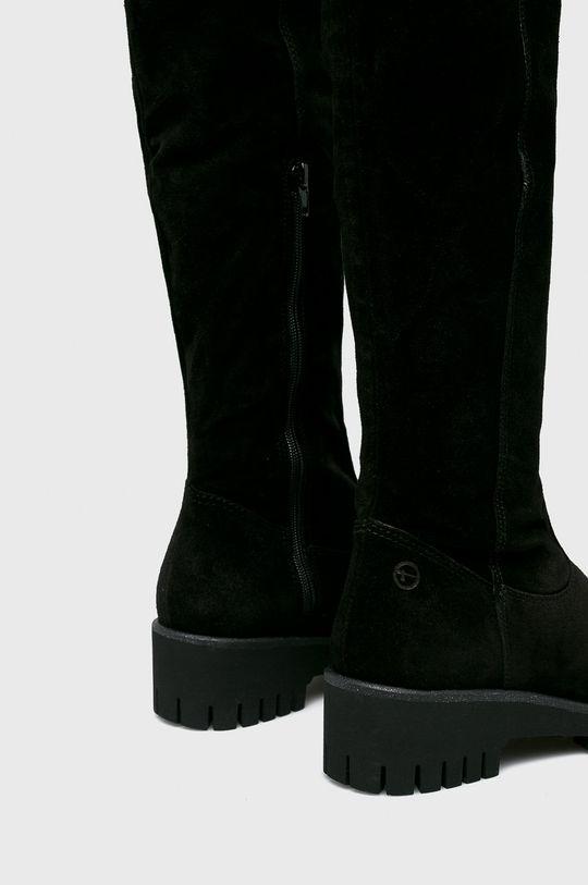 čierna Tamaris - Vysoké čižmy