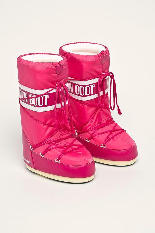 Moon Boot - Cizme de iarna roz ascutit