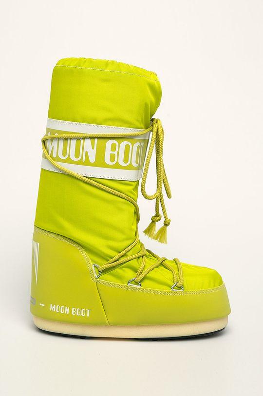 žlto-zelená Moon Boot - Snehule Nylon Dámsky