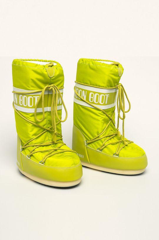Moon Boot - Snehule Nylon žlto-zelená