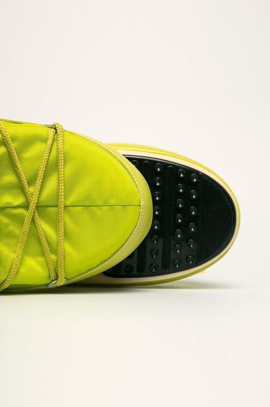 žlto-zelená Moon Boot - Snehule Nylon