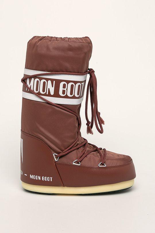 hnedá Moon Boot - Snehule Nylon Dámsky