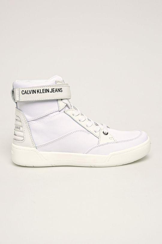 bílá Calvin Klein Jeans - Nízké kozačky Nelda Dámský