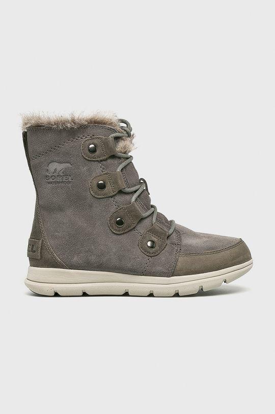 szary Sorel - Śniegowce Explorer Joan Damski