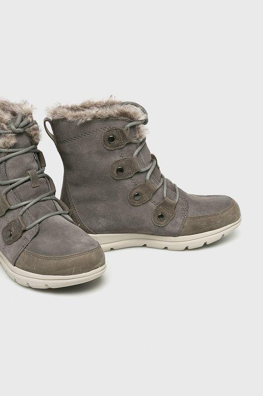 Sorel - Śniegowce Explorer Joan Cholewka: Skóra naturalna, Wnętrze: Materiał tekstylny, Podeszwa: Materiał syntetyczny,