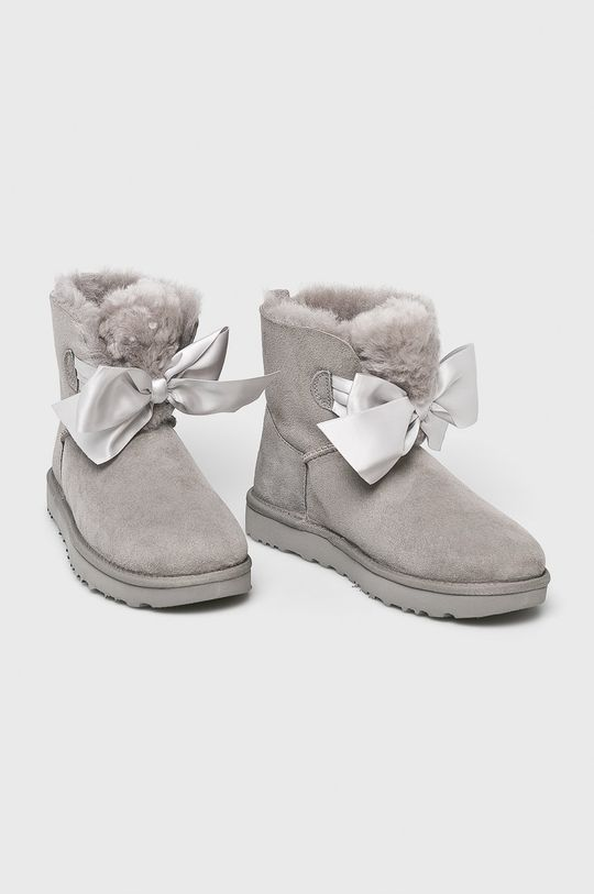 UGG - Śniegowce Gita Bow Mini szary