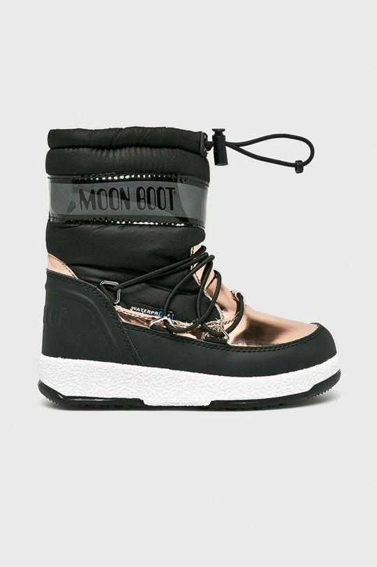 čierna Moon Boot - Detské topánky Dievčenský