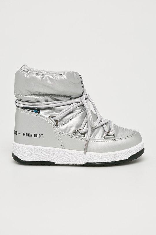 stříbrná Moon Boot - Dětské boty Dívčí