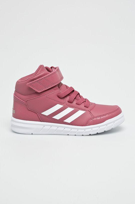 ružová adidas Performance - Detské topánky Dievčenský
