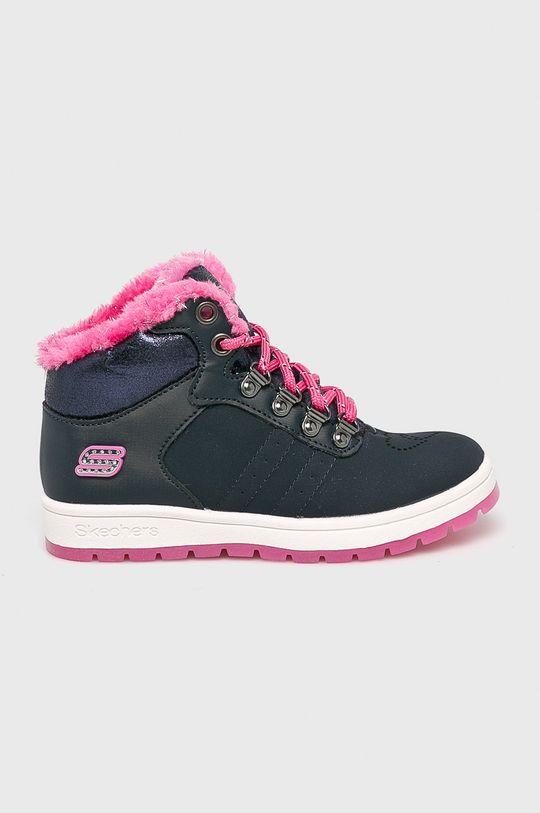 tmavomodrá Skechers - Detské topánky Street Cleat 2.0 Dievčenský