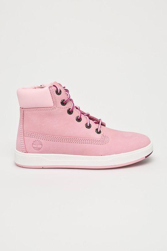 pastelová ružová Timberland - Detské topánky Davis Square Dievčenský
