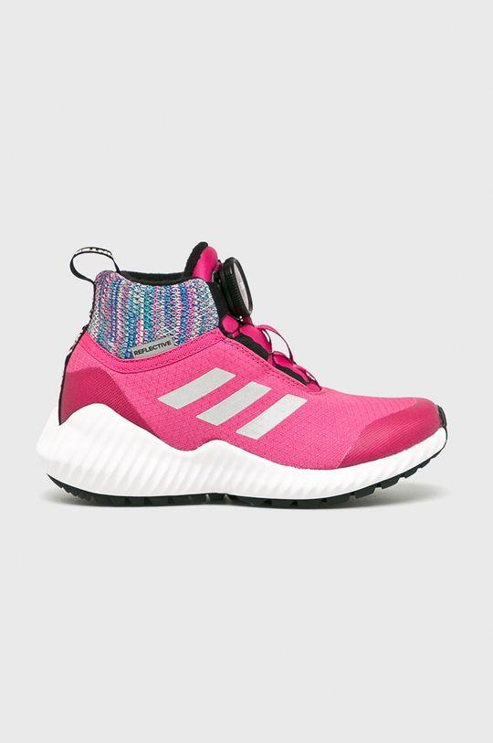 fuksia adidas Performance - Detské topánky Forta Trail Boa Dievčenský