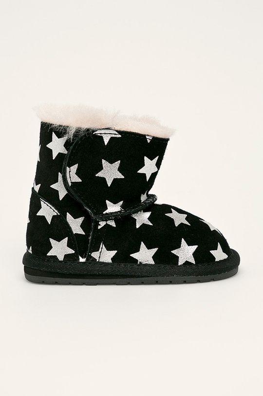 čierna Emu Australia - Zimné topánky B11857 Detský