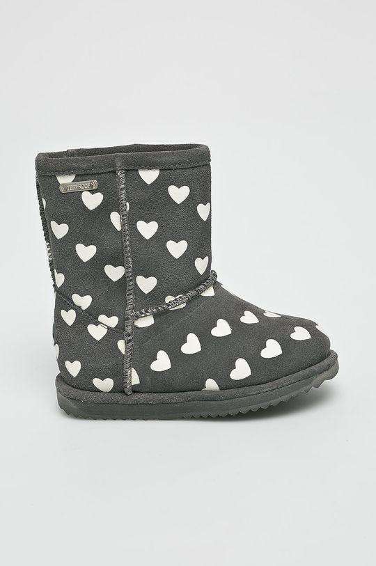šedá Emu Australia - Dětské boty Brumby Heart Dětský