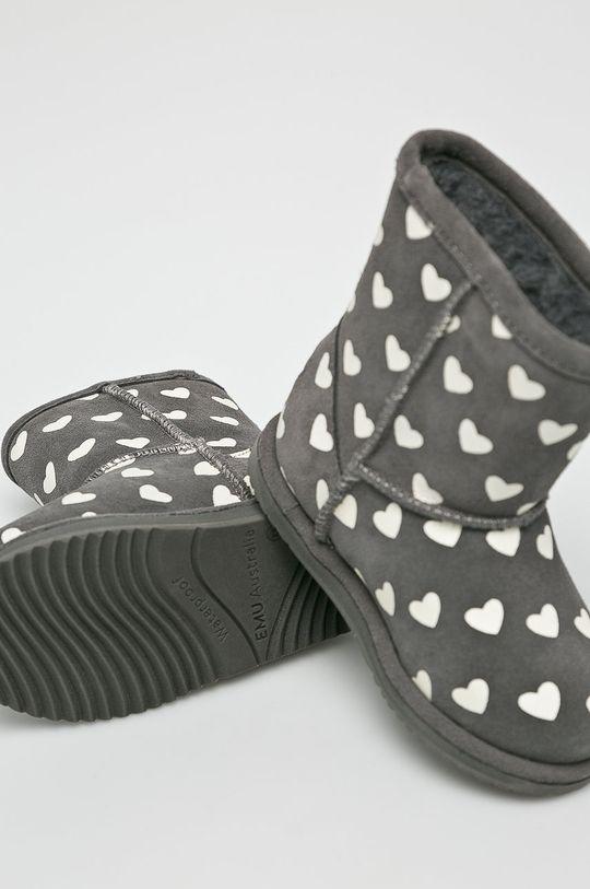 šedá Emu Australia - Dětské boty Brumby Heart
