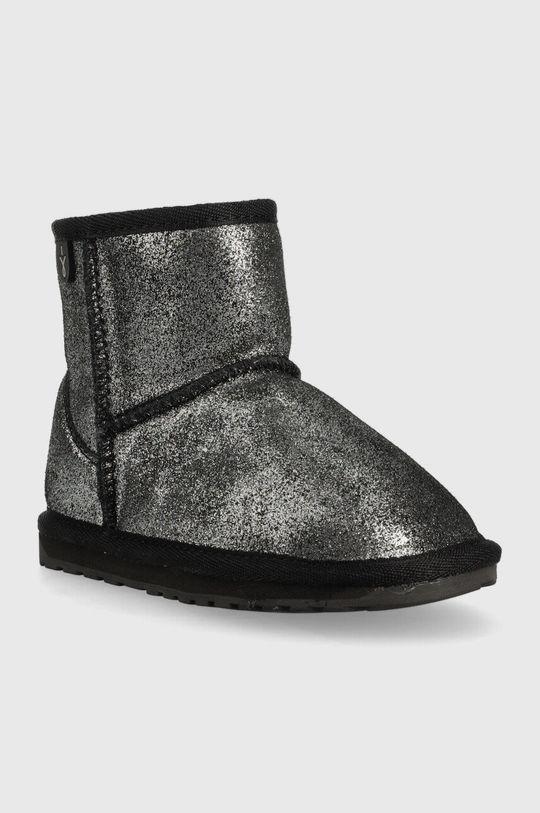 Emu Australia - Dětské sněhule Wallaby Mini Metallic černá