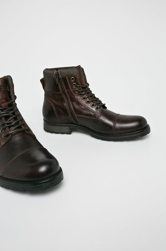 Jack & Jones - Kotníkové boty hnědá