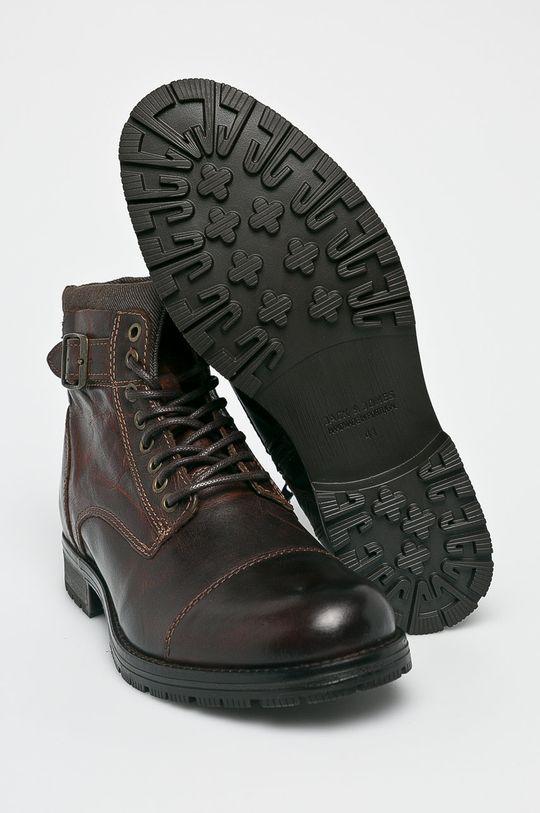hnědá Jack & Jones - Kotníkové boty