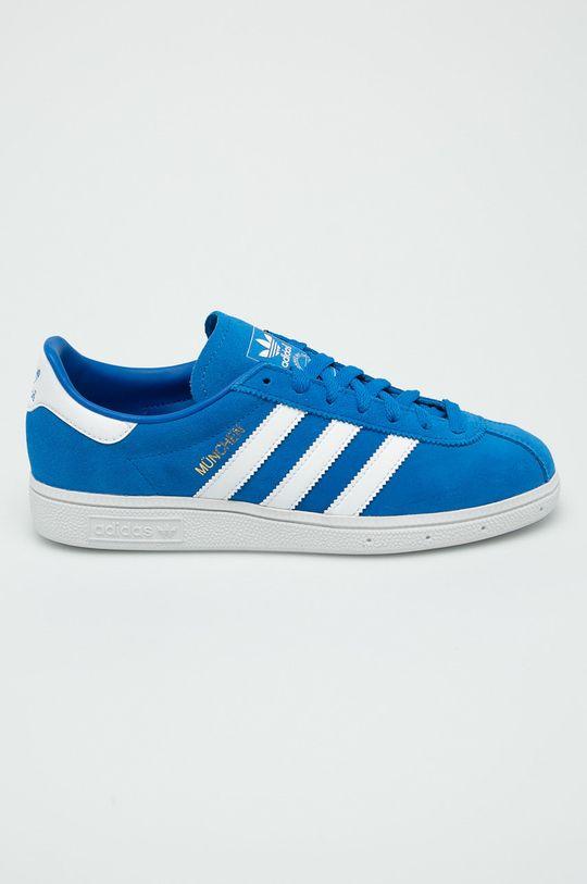modrá adidas Originals - Topánky Munchen Pánsky