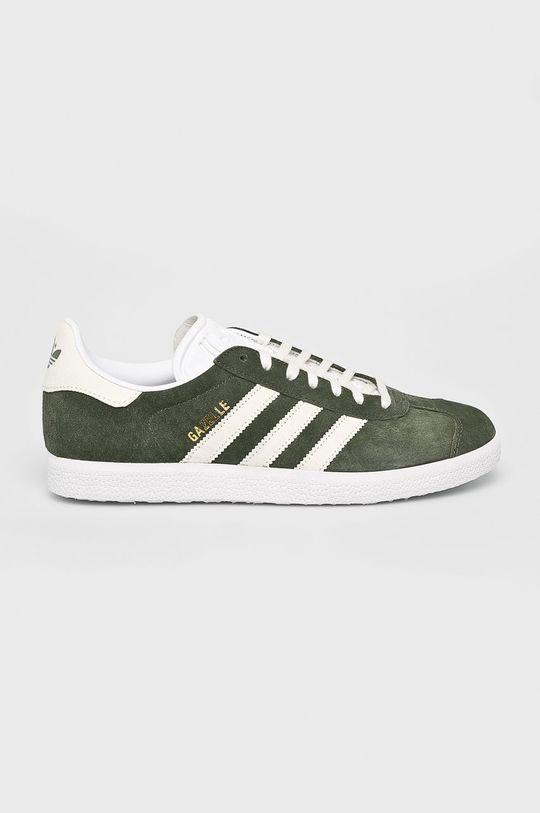 hnedo zelená adidas Originals - Topánky Gazelle Pánsky