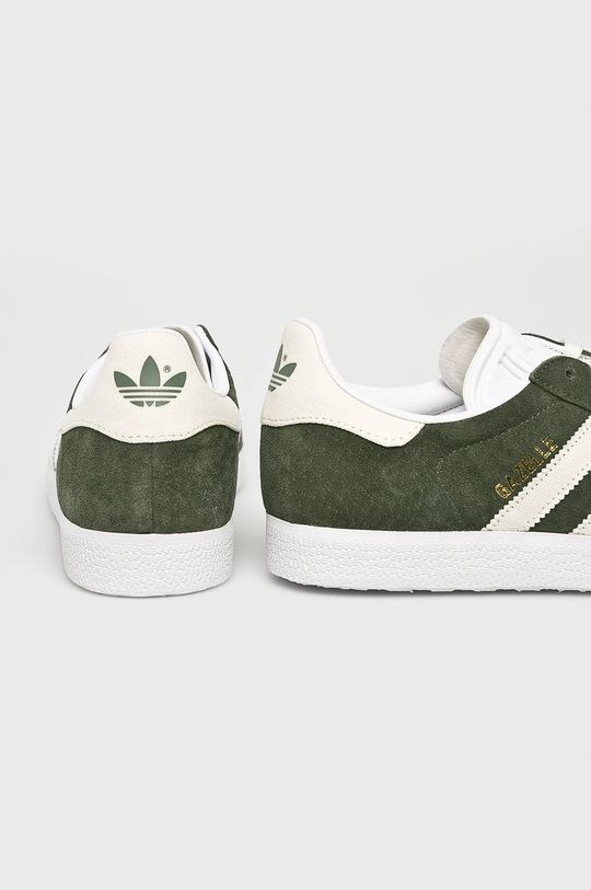 hnedo zelená adidas Originals - Topánky Gazelle