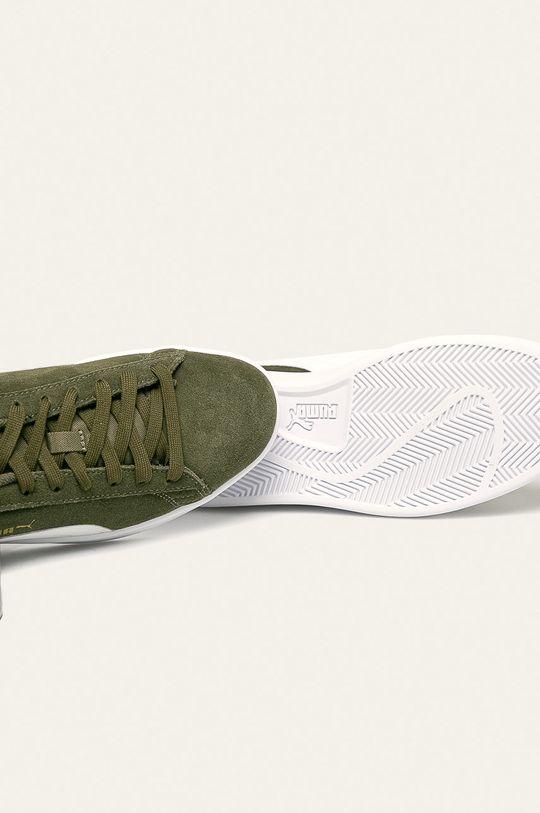 Puma - Kožená obuv Smash v2  Podrážka: Syntetická látka