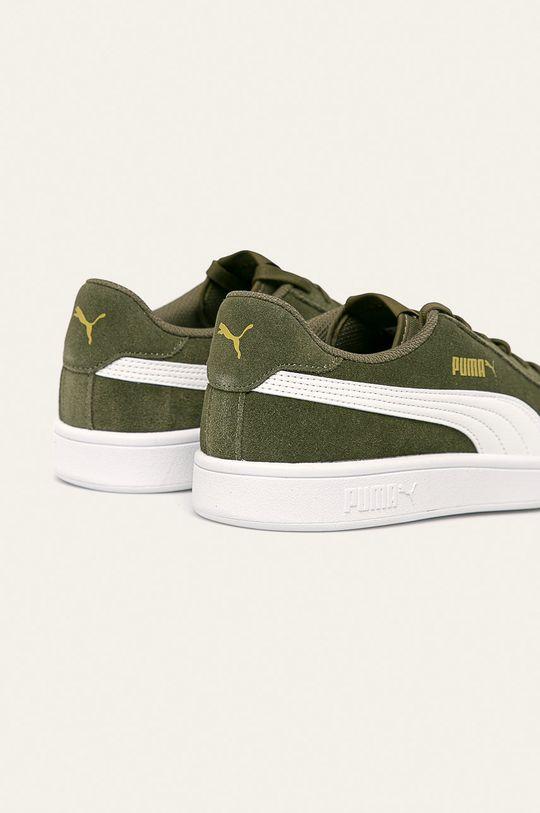 svetlá olivová Puma - Kožená obuv Smash v2