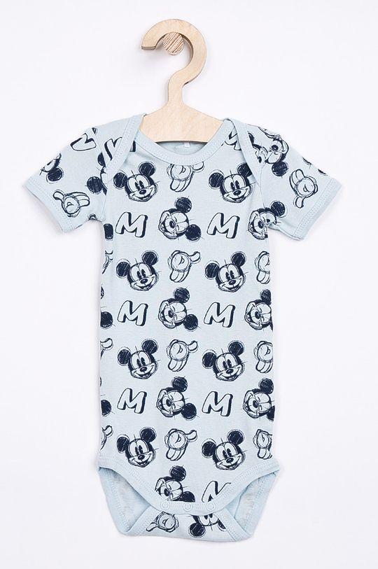 albastru pal Name it - Body bebe Disney Mickey Mouse 50-74 cm (2-pack) De băieți