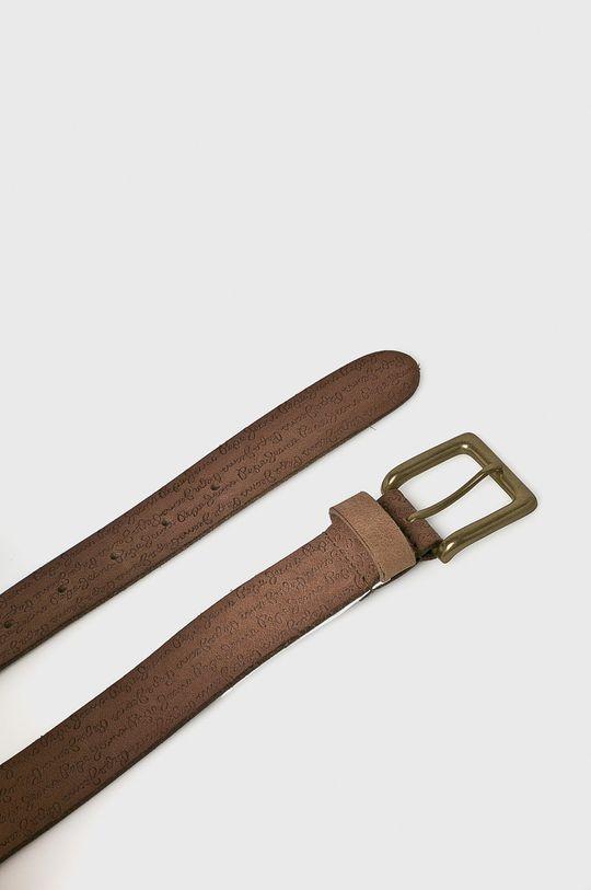 Pepe Jeans - Kožený pásek hnědá