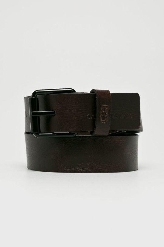 brązowy Calvin Klein Jeans - Pasek skórzany Męski