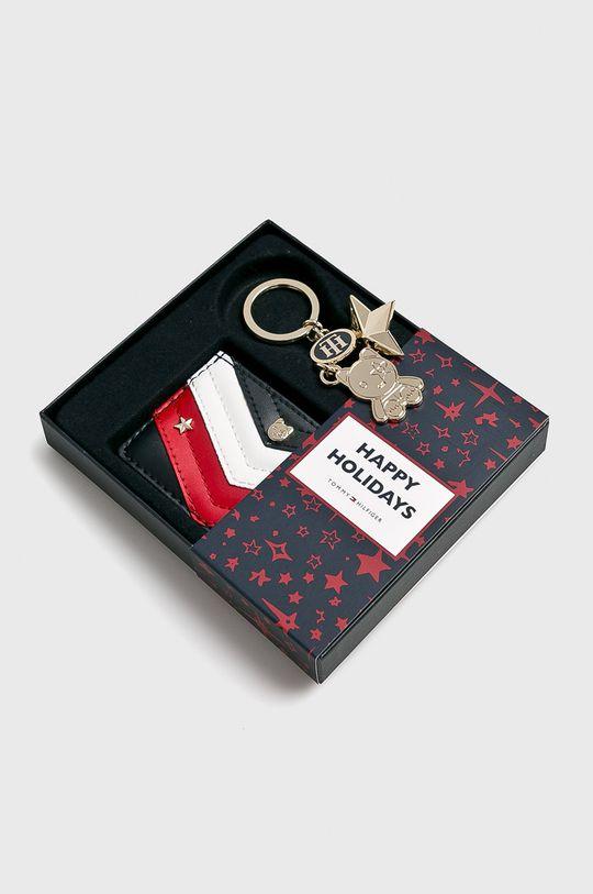 tmavomodrá Tommy Hilfiger - Kožená peňaženka + kľúčenka Dámsky