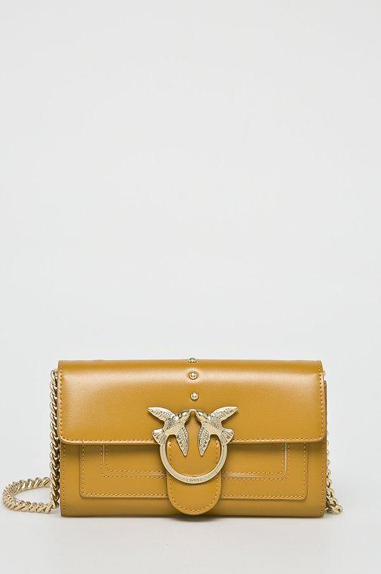 žltá Pinko - Kožená peňaženka Dámsky
