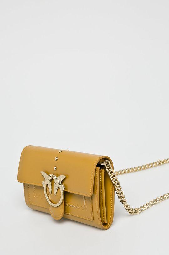 Pinko - Kožená peněženka žlutá