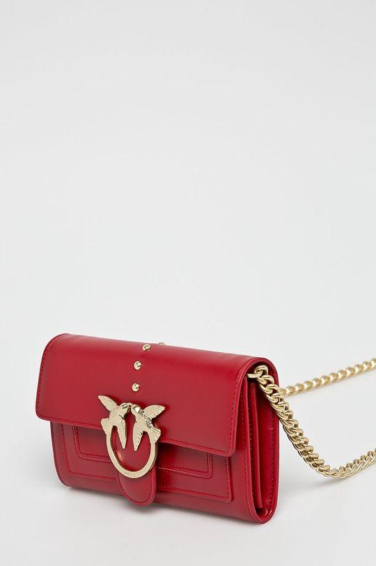 Pinko - Kožená peněženka červená