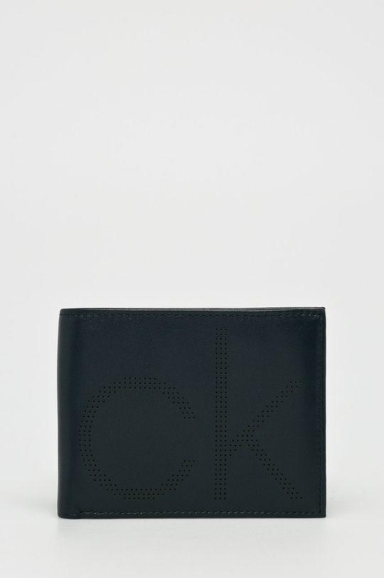 námořnická modř Calvin Klein - Kožená peněženka Pánský
