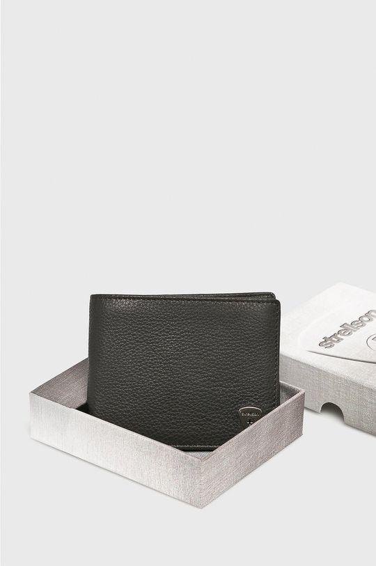 tmavohnedá Strellson - Kožená peňaženka