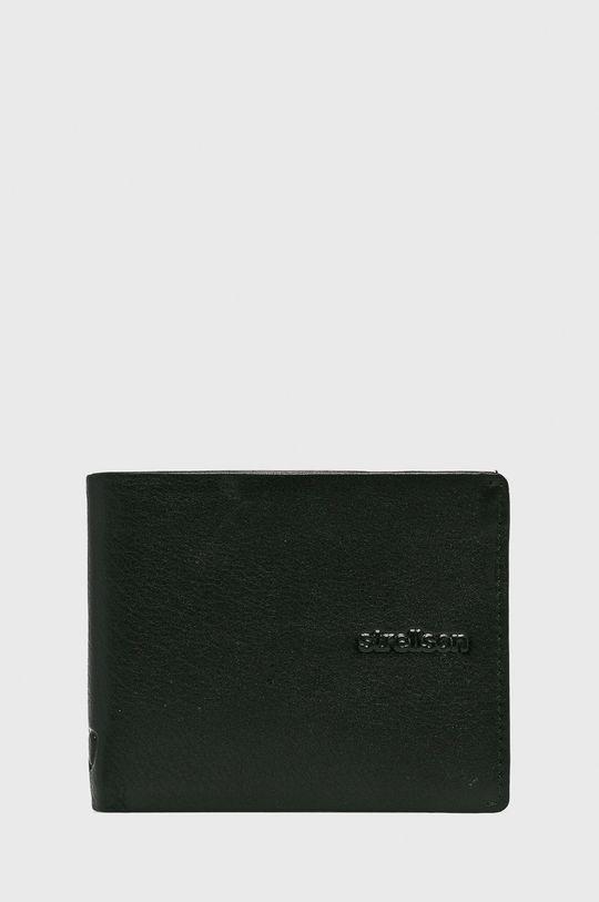 czarny Strellson - Portfel skórzany Męski