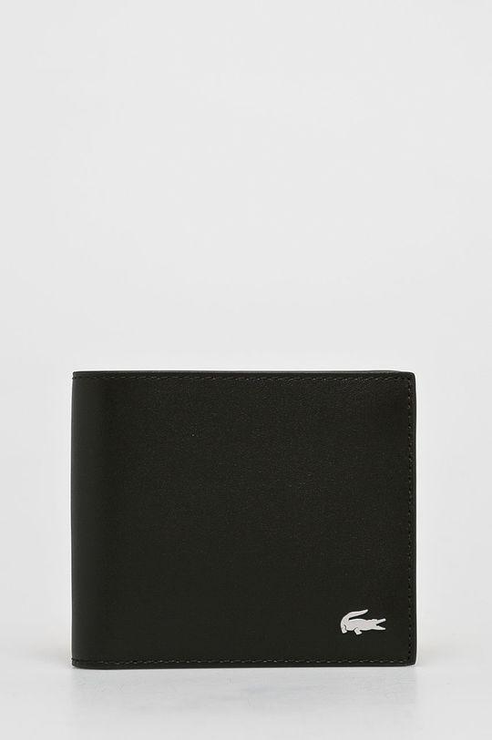 brązowy Lacoste - Portfel skórzany Męski