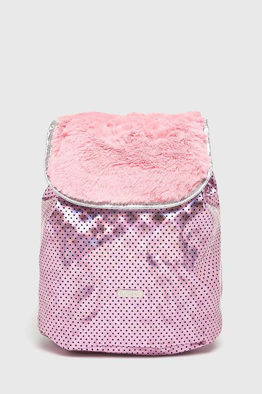 ružová Spiral - Ruksak Pink Polka Faux Fur Dámsky